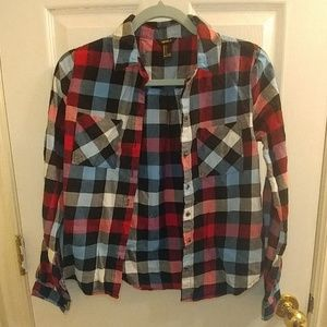 Forever 21 plaid flannel button up